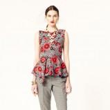 modna z baskinką bluzeczka Oscar de la Renta - wiosna 2014