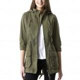 modna z rękawem 3/4 parka Promod w kolorze khaki - kolekcja kurtek na wiosnę 2013