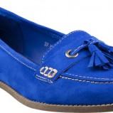 modne mokasyny CCC w kolorze kobaltowym - wiosna 2013