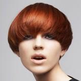 modny bob - włosy rude - trendy fryzjerskie
