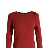 Modny czerwony sweter ESPRIT dopasowany  moda jesienno-zimowa 2012/ 2013