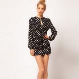 modny kombinezon Asos w groszki - moda na karnawał