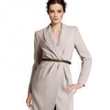 modny płaszczyk H&M w kolorze szarym - jesień-zima 2012/2013