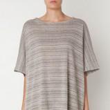 Modny szary sweter Oysho w paski luźny kolekcja jesienno-zimowa 2012/2013