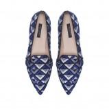mokasyny ZARA w kolorze niebieskim - moda 2013