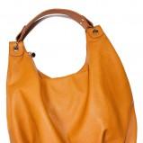 musztardowa torba Cropp duża - wiosna-lato 2012