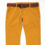 musztardowe spodnie Lee z paskiem - z kolekcji wiosna-lato 2012