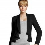 narzutka - marynarka H&M w kolorze czarnym - modne marynarki