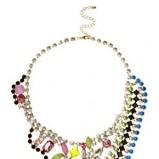 naszyjnik Asos z kolorowymi kryształkami