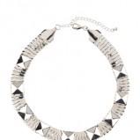 naszyjnik H&M w kolorze srebrnym