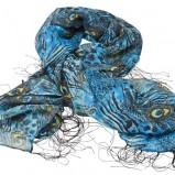 niebieska apaszka Glitter we wzory - kolekcja wiosenno/letnia