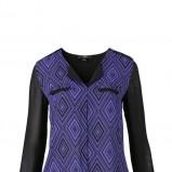 niebieska bluzeczka C&A we wzorki - kolekcja jesienna
