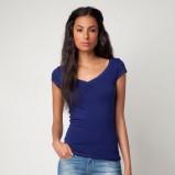 niebieska bluzka Bershka dopasowana - lato 2012