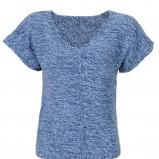 niebieska bluzka Camaieu dzianinowa - wiosna/lato 2012