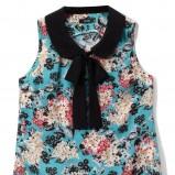 niebieska bluzka Echo w kwiaty - wiosna-lato 2012