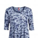 niebieska bluzka KappAhl we wzory - z kolekcji wiosna-lato 2012