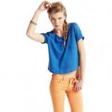 niebieska bluzka Pull and Bear - wiosna/lato 2011
