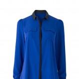 niebieska bluzka River Island z kieszeniami - jesień 2011