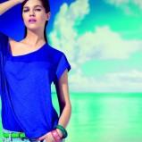 niebieska bluzka Stradivarius - wiosna/lato 2011