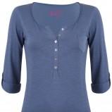 niebieska bluzka Tally Weijl z guzikami - jesień 2011