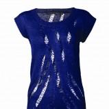 niebieska bluzka Top Secret - moda zimowa