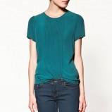 niebieska bluzka ZARA - jesień/zima 2011/2012