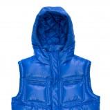 niebieska kamizelka C&A z kapturem błyszcząca - jesień/zima 2011/2012