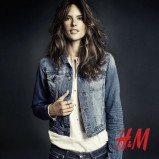 niebieska katana H&M - jesień 2013