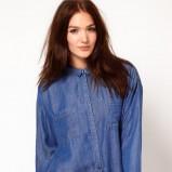 niebieska koszula Asos jeansowa  - moda uliczna
