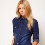 niebieska koszula Asos jeansowa  - trendy na zimę