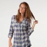 niebieska koszula Bershka w kratkę - moda 2011/2012