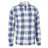 niebieska koszula Cottonfield w kratkę - moda jesienna