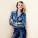 niebieska koszula H&M jeansowa - styl na jesień 2013