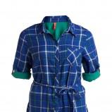 niebieska koszula KappAhl w kratkę