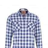 niebieska koszula Marks & Spencer w kratkę - kolekcja jesienno-zimowa