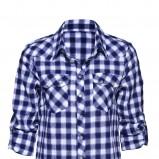 niebieska koszula New Yorker w kratkę - sezon jesienno-zimowy