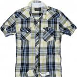 niebieska koszula Pull and Bear w kratkę - letnia kolekcja