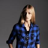 niebieska koszula Reserved w kratę - jesień/zima 2013/14
