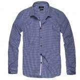 niebieska koszula Reserved w kratkę - z kolekcji wiosna-lato 2012