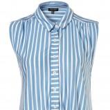 niebieska koszula Topshop w paski - wiosna 2011