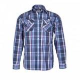 niebieska koszula Troll w kratkę - z kolekcji wiosna-lato 2012