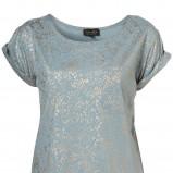 niebieska koszulka Topshop - wiosna 2011