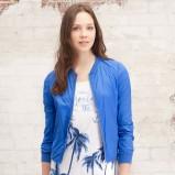 niebieska kurtka Stradivarius - moda wiosna/lato