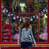 niebieska spódnica Sinsay w kratkę - moda jesień/zima 2013/14