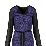 niebieska sukienka C&A we wzorki - jesień 2013