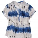 niebieska sukienka Carry we wzory maxi - wiosna/lato 2012