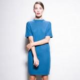 niebieska sukienka Confashion klasyczna