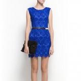 niebieska sukienka Mango koronkowa - studniówka 2013
