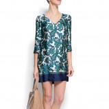 niebieska sukienka Mango w kwiaty - kolekcja na lato
