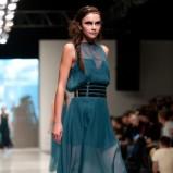 niebieska sukienka Natasha Pavluchenko prześwitująca - z kolekcji wiosna-lato 2012